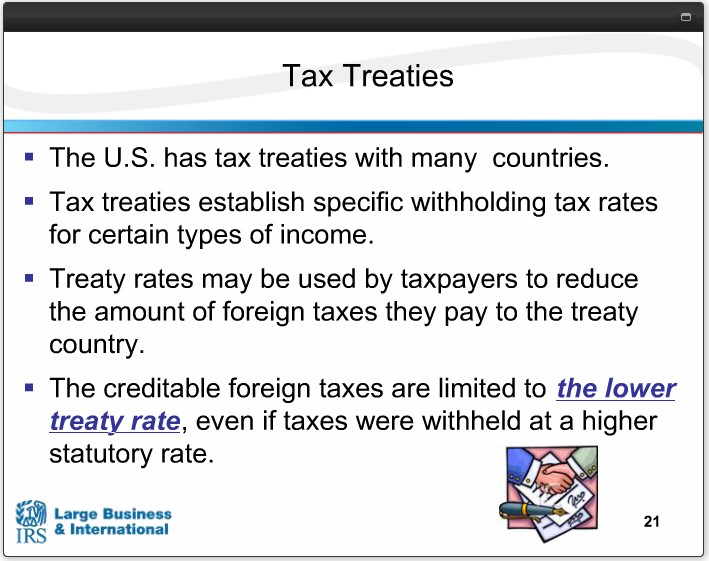 U.S. TAX TREATIES