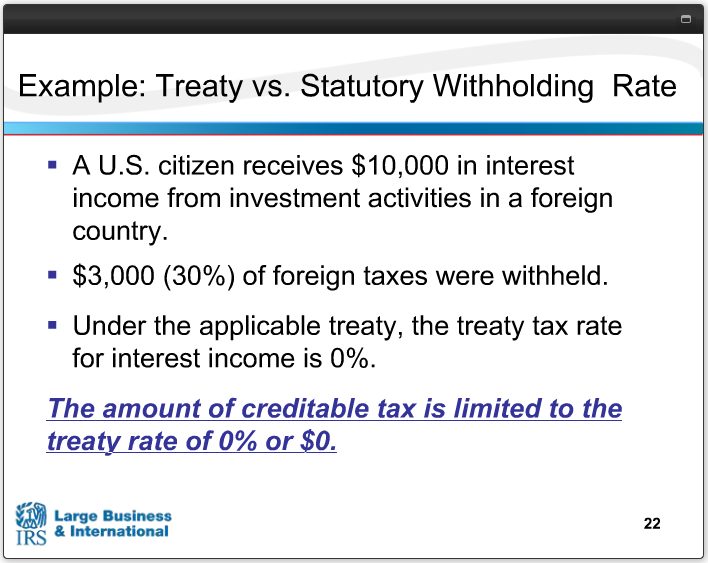 TREATY VS STATORY WITHHOLDING RATE